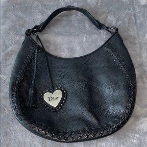 Vintage authentic Dior leather shoulder bag